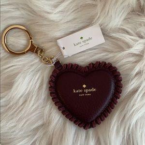 kate spade Heart Key Chain Ring Fob/Purse Charm🖤